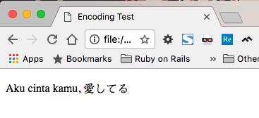 Encoding dengan UTF-8